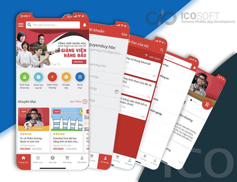 Giao diện làm app của công ty Icon Technic