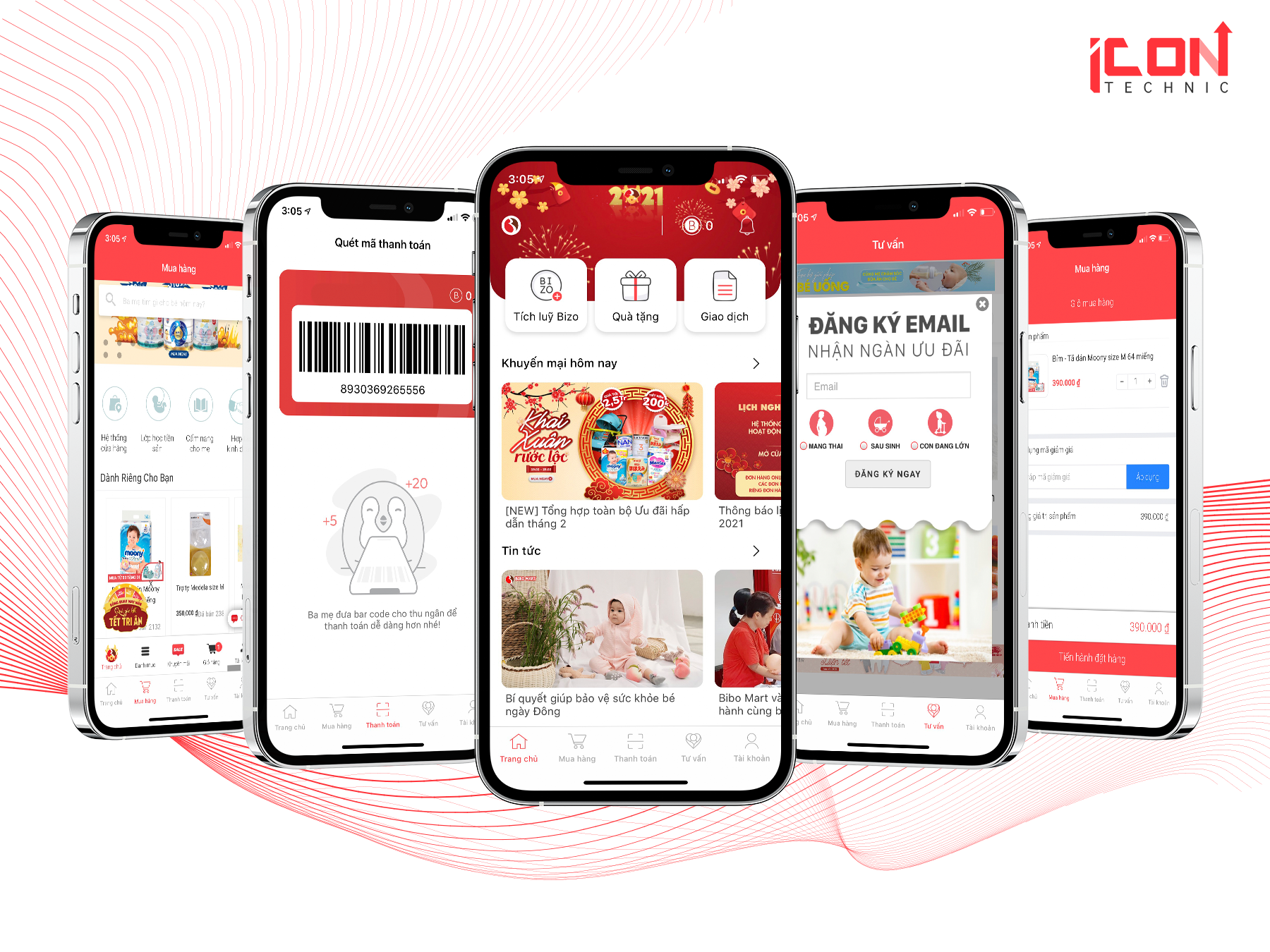 Báo giá làm app mobile tham khảo cho app bibo mart