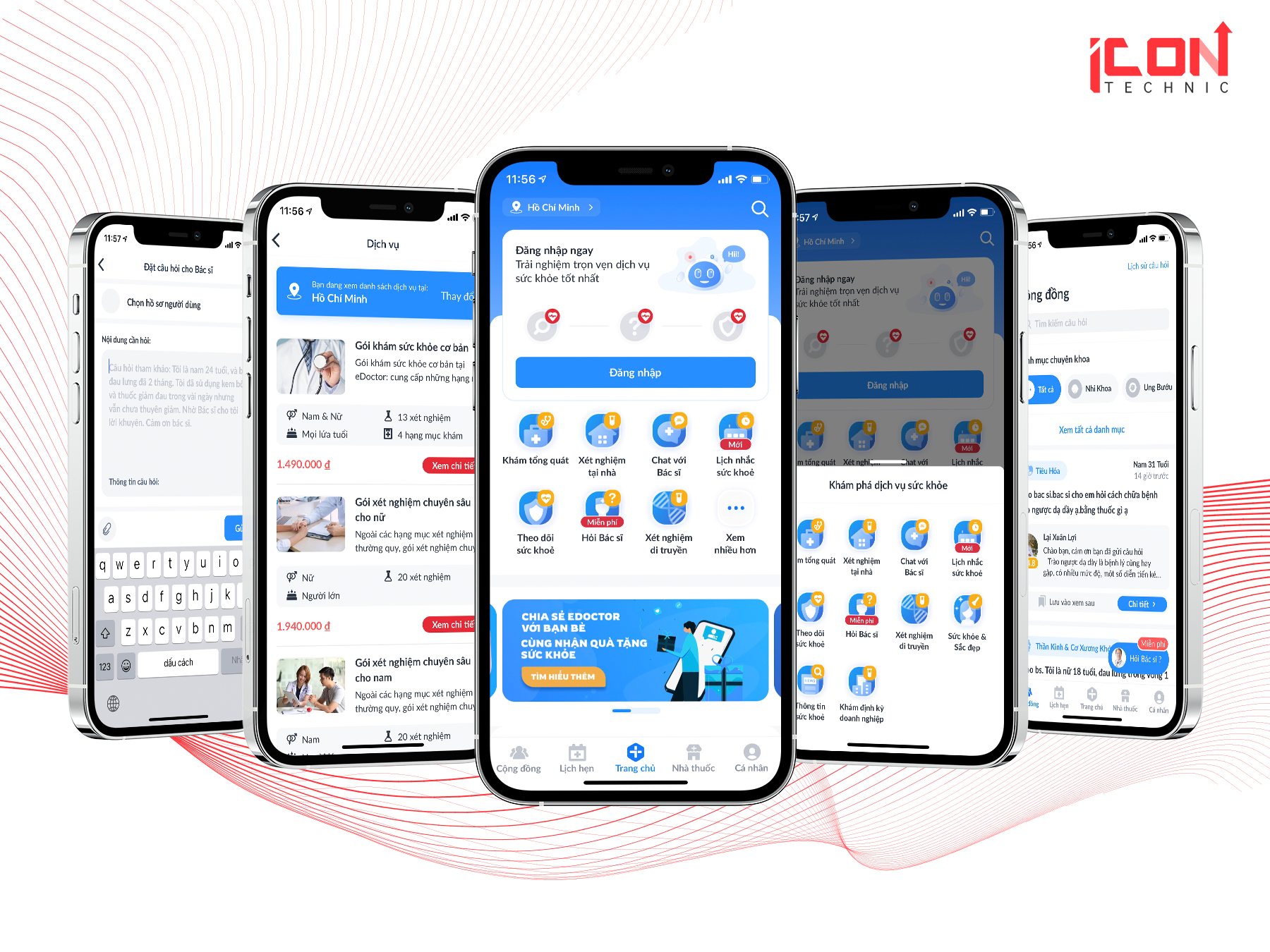 Thiết kế app Sức khoẻEdoctor - Icon Technic