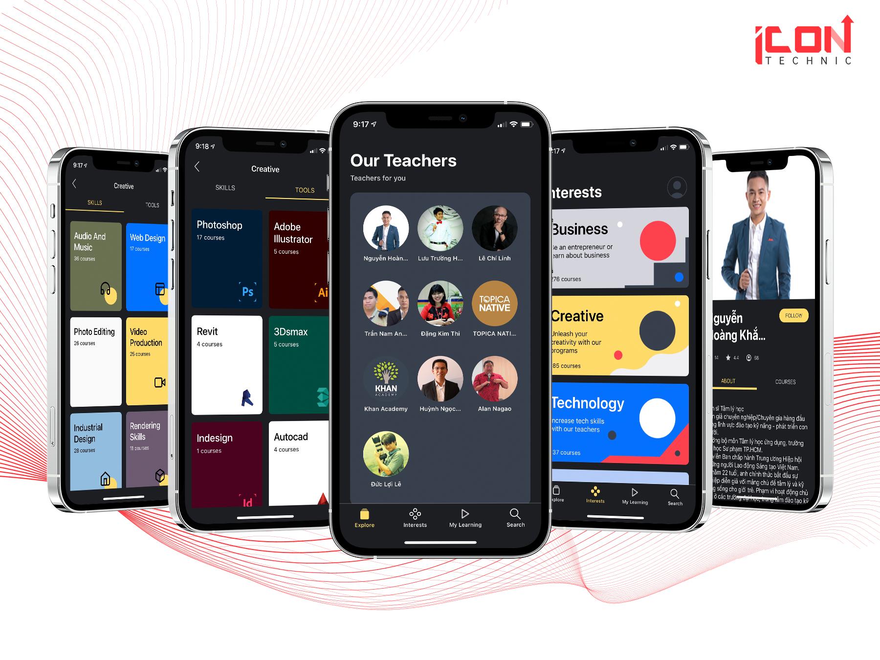 giá viết app cho edumall - icon technic